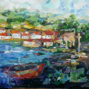 Galicia. Acrilico sobre lienzo.